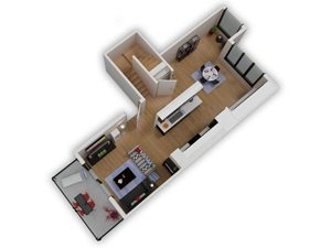 Capitol Yard Apartments_ West Sacramento CA_Floor Plan_Two Bedroom Two Bathroom B3